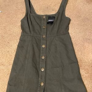 *NWT* Forever 21 Olive Green Jean Dress size M